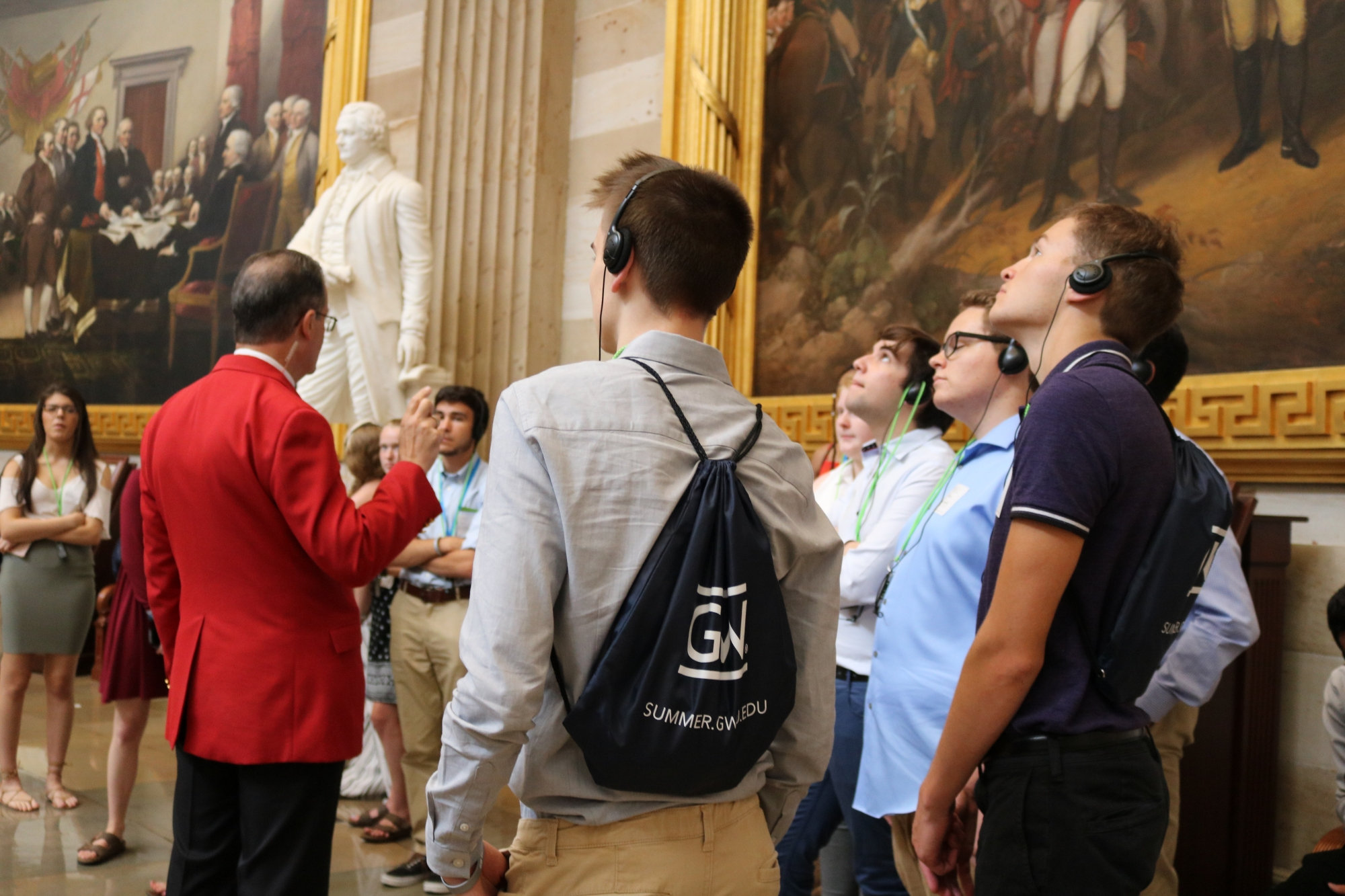 Social Justice Students on tour of the US Capitol Building
