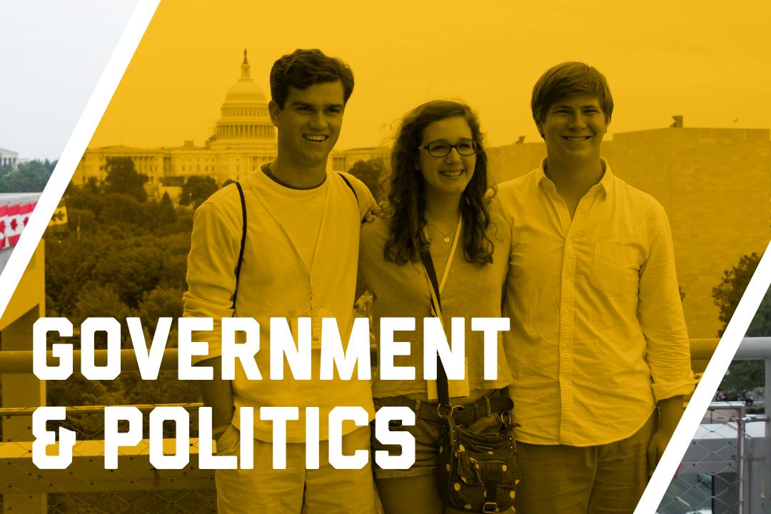 Graphic for government & politics Pre-College programs