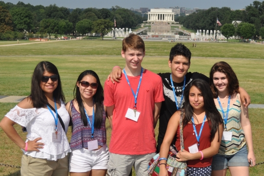 Pre-College students on the National Mall in DC