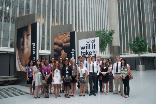 Pre-College students outside the World Bank