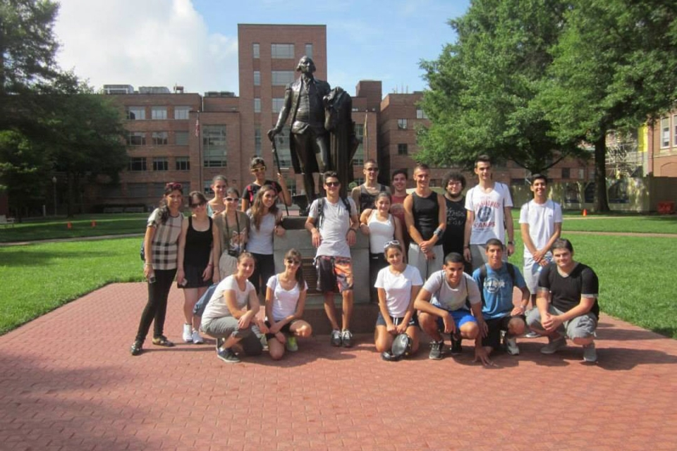 Cyprus students on GW campus