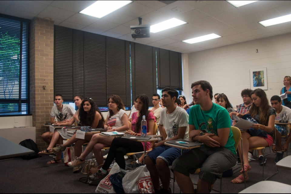 Cyprus students in their classroom