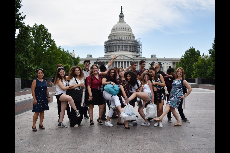 Photo of Cyprus 2016 cohort in front of the Capitol buidling