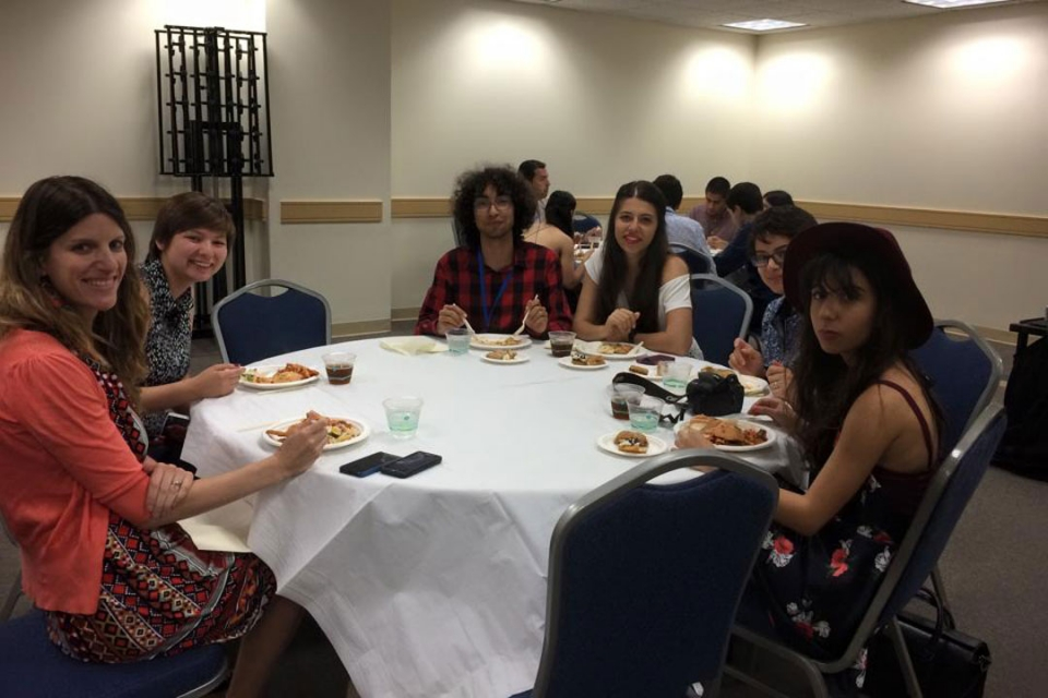 Cyprus students at their closing dinner