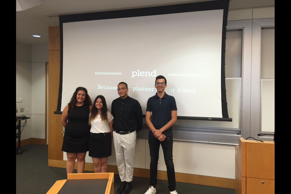 Cyprus students giving their final presentation
