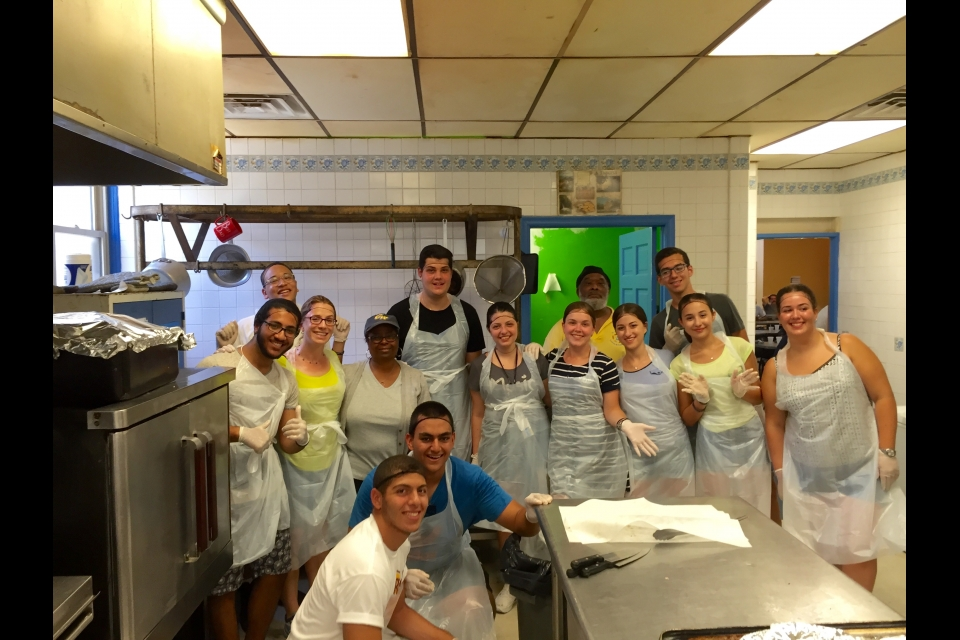Cyprus students volunteering at the soup kitchen