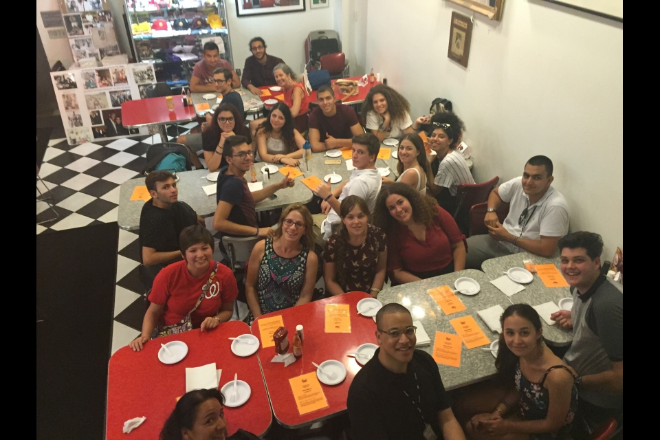 Cyprus students at Ben's Chili Bowl in DC
