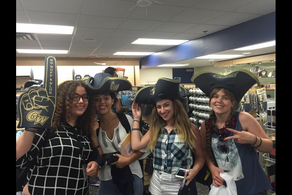 Cyprus students in GW Colonial gear