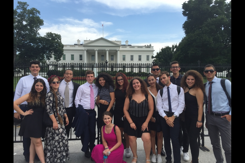 Cyprus students at the White House