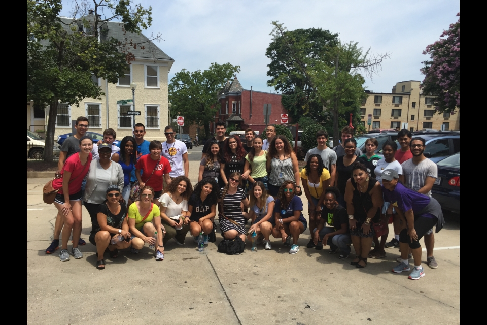 Cyprus students in a DC neighborhood