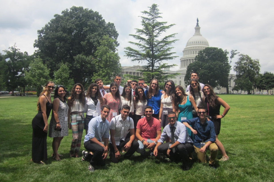 Cyprus students in front of the US Capitol building