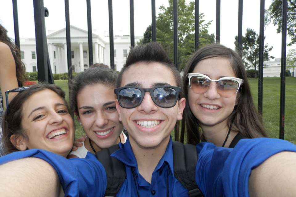 Cyprus students in front of the White House