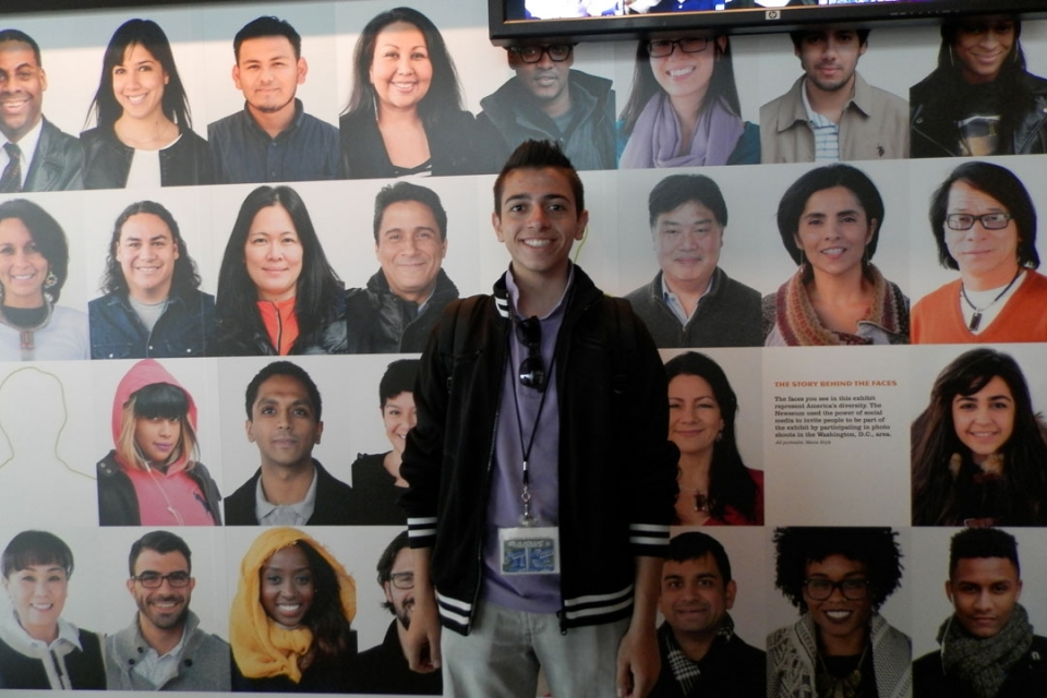 Cyprus students at the Newseum in DC