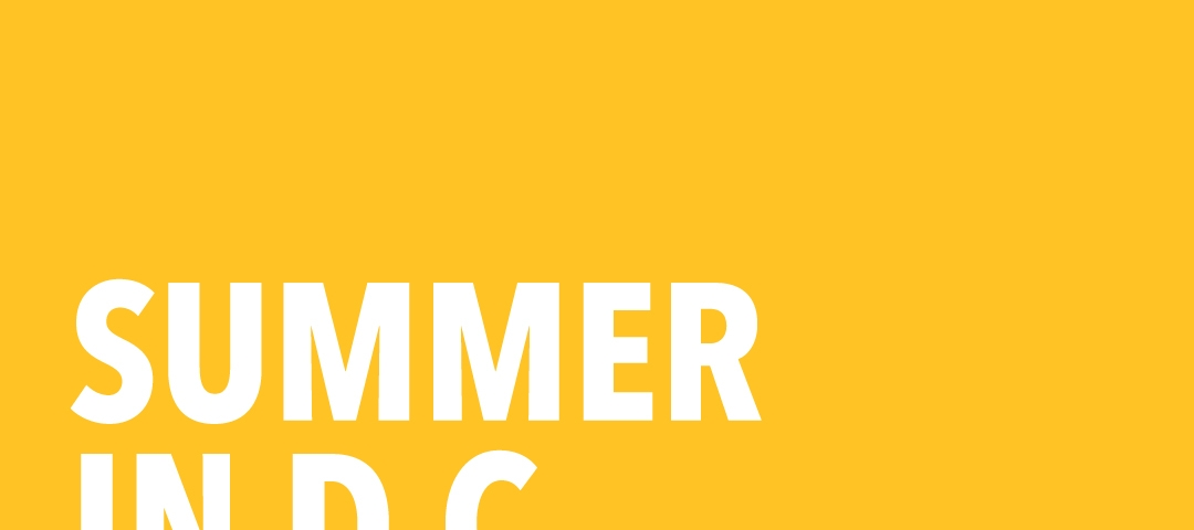 """Graphic that reads """"Summer in D.C."""""""