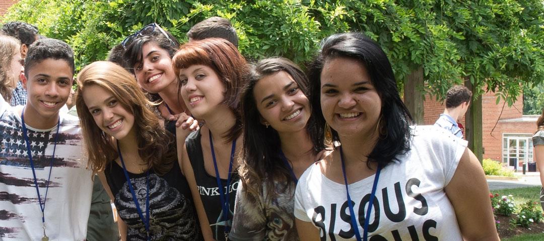 Pre-College students on GW Mount Vernon Campus