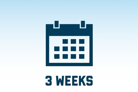 3 week course options