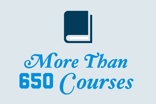 Choose from over 650 courses
