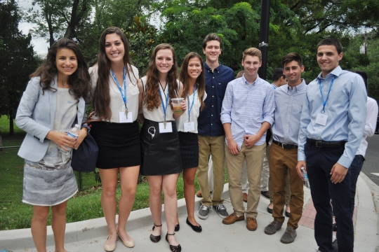 Photo of business essentials students