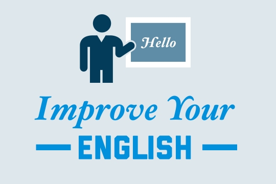 """Graphic for EAP that reads """"Improve your English"""""""