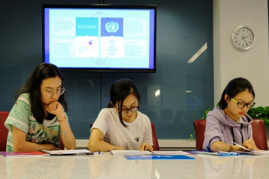 International Summer students at United Nations Foundation