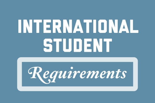 International Student Requirements graphic