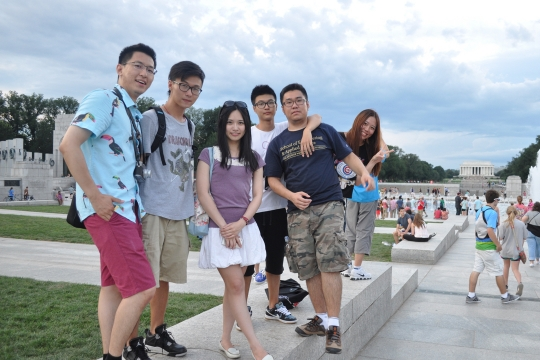 International Summer at GW students at World War II Memorial in DC