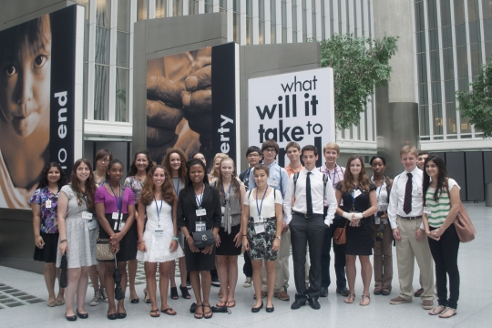 A group of students at the World Bank