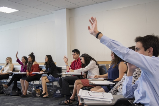 Caminos al Futuro students in a classroom setting