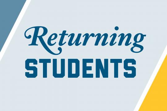 Returning Students Graphic