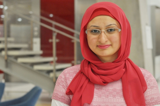Headshot of Sa'na Syed Ayaz Qaiser, international student from Kuwait