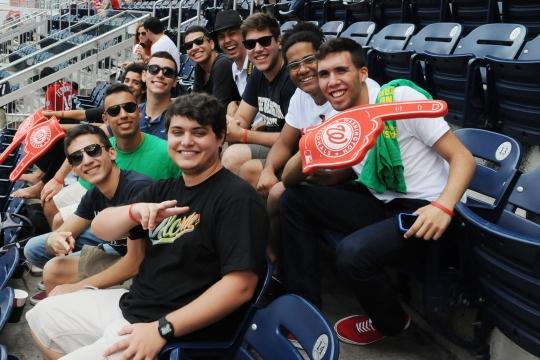 Pre-College students at a Washington Nationals baseball game