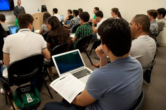 A GW Pre-College classroom